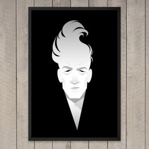 David Lynch in un'illustrazione di Stanley Chow