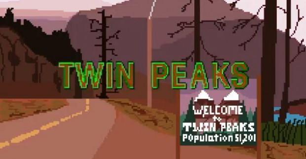 Sigla Twin Peaks a 8-bit_cartello
