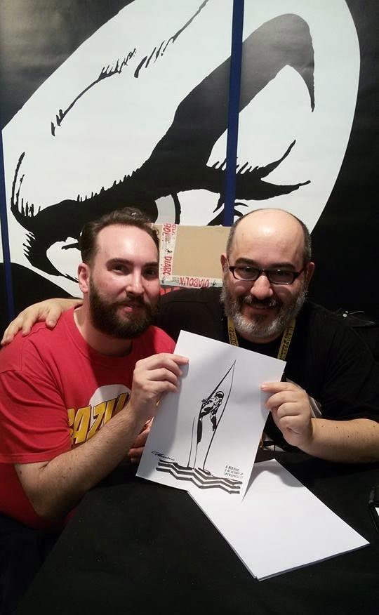 Con Giuseppe Palumbo al Napoli_Comicon_2015