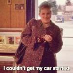 ANDREA HAYS. In Twin Peaks compariva solo nel pilot e nell'ultimo episodio, in una gag completamente gratuita che si ripeteva come un déjà vu. La tedesca ilare e ritardataria Heidi tornerà anche nella nuova stagione così come era riapparsa in Fuoco cammina con me). Chissà se anche stavolta non è riuscita a far partire la sua macchina!