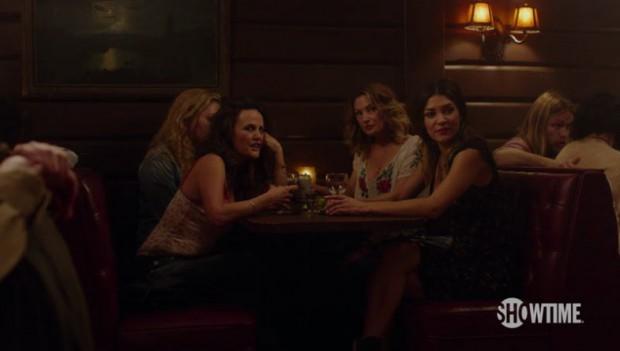 Mädchen Amick, Gia Carides e Jessica Zohr alla Roadhouse - New Twin Peaks