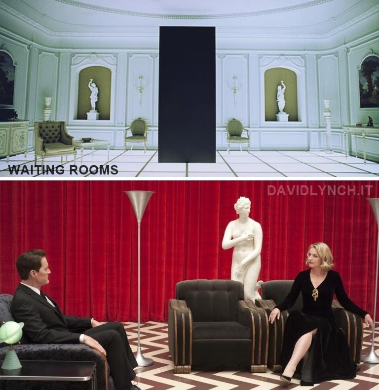 Waiting Rooms: la camera stile Régence di 2001: Odissea nello spazio e la Red Room di Twin Peaks, spazi oltremondani a misura d'uomo