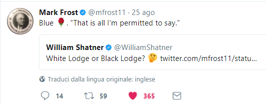 MArk Frost e William Shatner